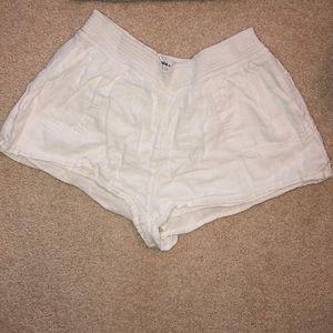 white shorts from a&f